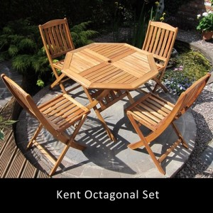 Kent Octagonal Folding Patio Set