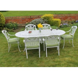 Cast Aluminium Tudor Oval Dining Set