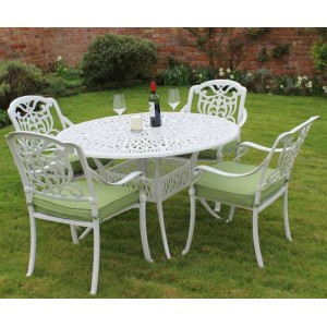 Cast Aluminium Tudor Patio Set