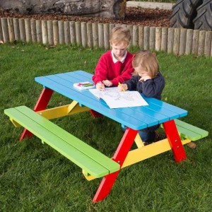 Children's Painted Picnic Bench 3-5 Years