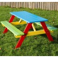 Children's Painted Picnic Bench 6-9 Years