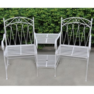 Romance Antique White Companion Seat