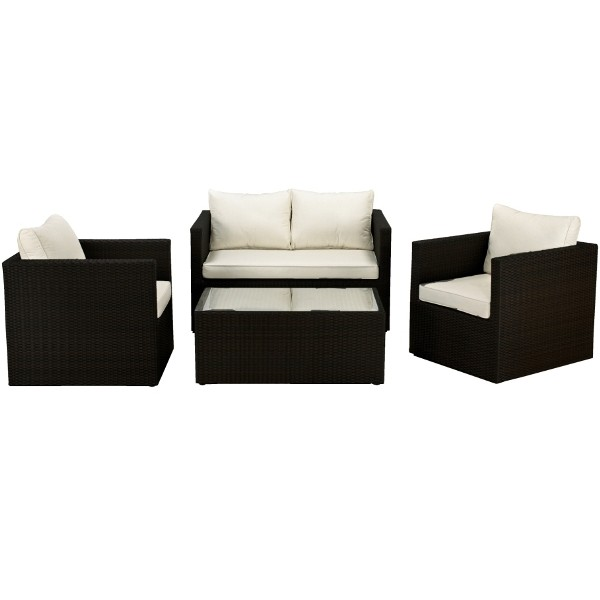 Cannes 4 Piece Rattan Sofa Set