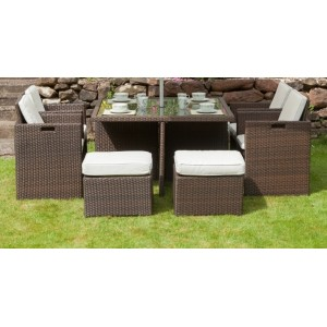 Cannes 8 Seater Rattan Cube Set