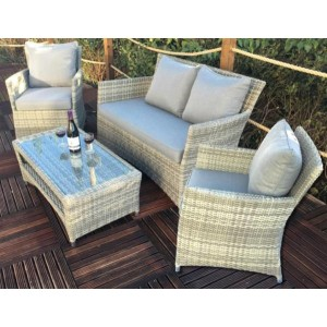 Windsor Classic 4 Seater Rattan Sofa Set