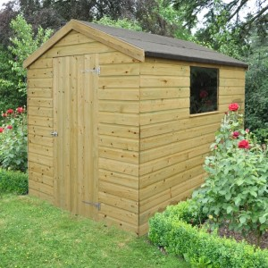 Forest 8x6 Pressure Treated Shiplap Apex Shed