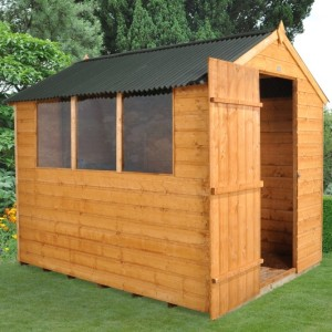 Forest 8 x 6 Shiplap Shed with Onduline Roof