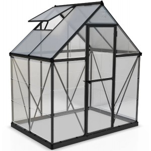 Palram 6 x 4 Hybrid Grey Greenhouse