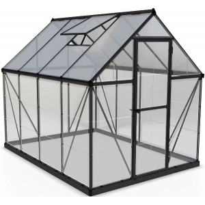 Palram 6 x 8 Hybrid Grey Greenhouse