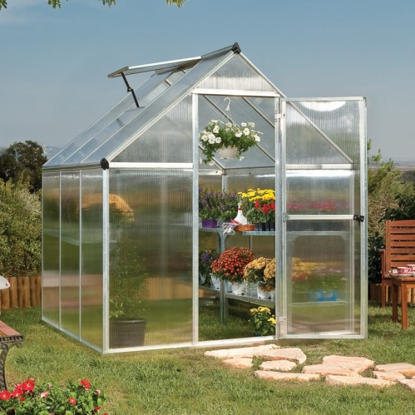Palram Mythos 6 x 6 Polycarbonate Greenhouse