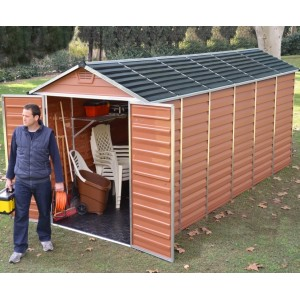 Palram Skylight 6ft x 12ft Plastic Shed - Amber