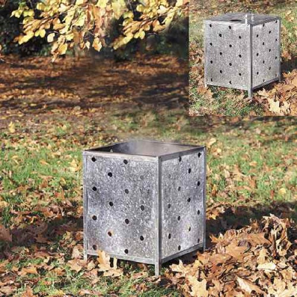 Galvanised Box Garden Incinerator