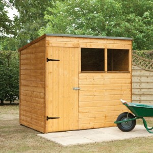 forest 7 x 5 shiplap pent shed