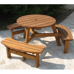 Sherwood Round Picnic Bench