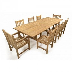 St James 8 Seat Teak Patio Set