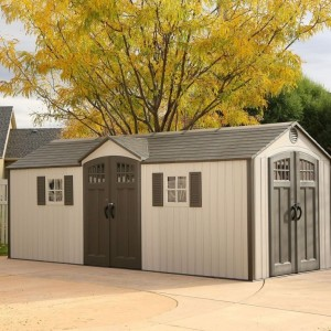 Lifetime 20ft x 8ft Apex Shed Dual Entrance