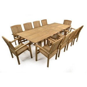 Rockingham Double Extending Teak Patio Set