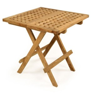 Teak Folding Side Table