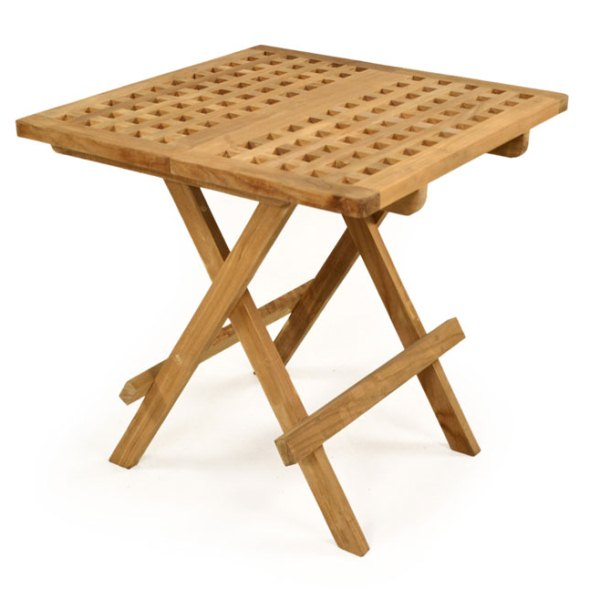 Teak folding side table for Outdoor teak side table
