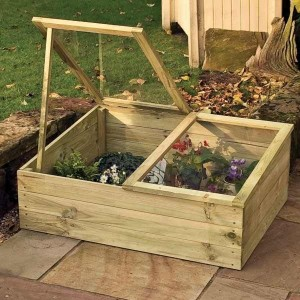 Twin Lid Timber Cold Frame