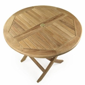 Whitley Round Folding Teak Table