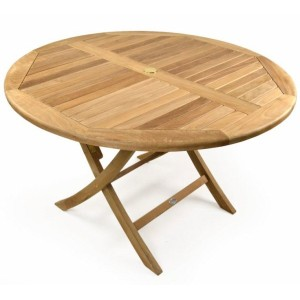 Willoughby Round Folding Teak Table