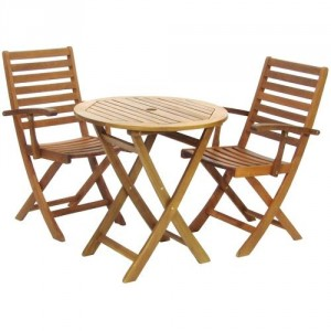 York Bistro Set With Armchairs