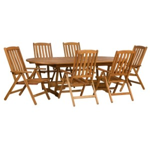 Edinburgh Wooden Reclining Chairs And Extending Table Set (6 Seater)
