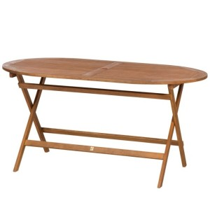 Torino Wooden Oval Folding Table (150cm x 90cm)