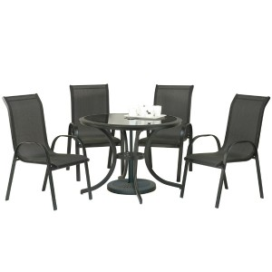 Cayman Metal Round Table And Chairs Set