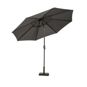 3m Grey Crank and Tilt Parasol