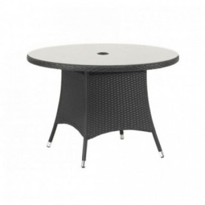 Cannes 110cm Round Rattan Table