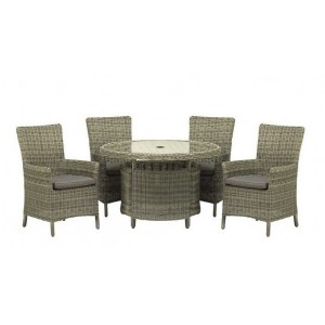 Modena Rattan Carver Dining Set (4 Seater)
