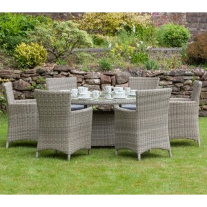 Wentworth Rattan Carver Dining Set (6 Seater)