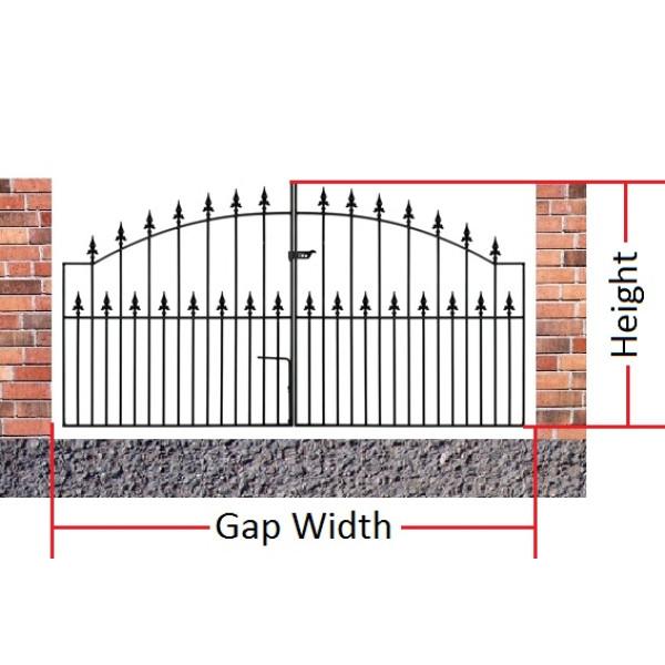 Made to Measure Saxon Double Gates