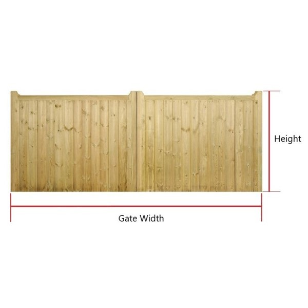 Made to Measure Drayton Flat Top Double Gate