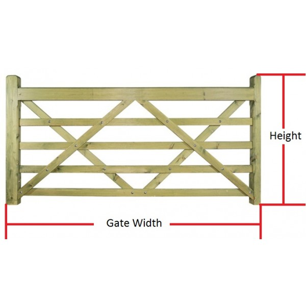 Made to Measure Evington 5 Bar Field Gate
