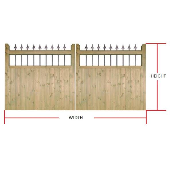 Made to Measure Hampton Double Gates