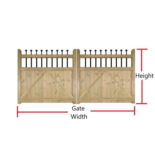 Made to Measure Kensington Double Gates