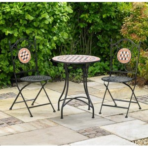 Mosaic Bistro Patio Garden Set (3 Piece)