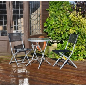 Black Bistro Patio Garden Set (3 Piece)