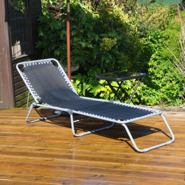 Garden Sun Lounger (Set of 2)