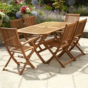 6 Seat Wooden Garden Furniture Set