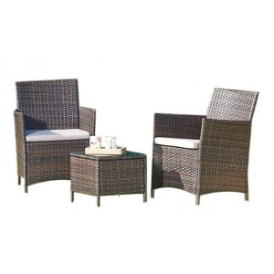 3 Piece Rattan Coffee Set