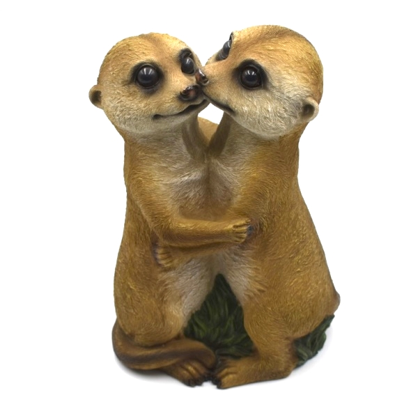 Hugging Meerkats Resin Ornament