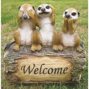 Welcome Meerkats Resin Ornament