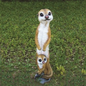 Mother and Baby Meerkat Resin Ornament