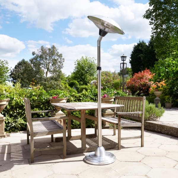 Adjustable Floor Standing Halogen Patio Heater