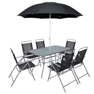 6 Seater Steel Dining Set
