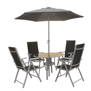 4 Seater Aluminium Dining Set